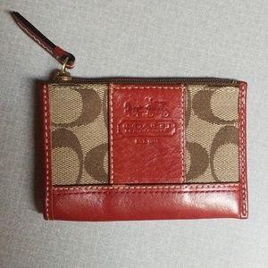 Coach key ring coin purse